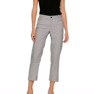 Banana Republic Logan Crop Houndstooth Pant, 0P